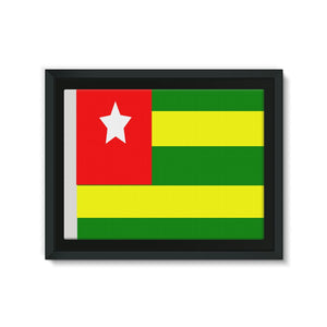 Flag Of Togo Framed Canvas Wall Decor Flagdesignproducts.com