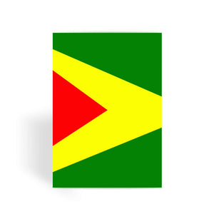 Flag Of Guyana Greeting Card Prints Flagdesignproducts.com