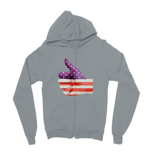 Usa Hand And Finger Flag Kids Zip Hoodie Apparel Flagdesignproducts.com