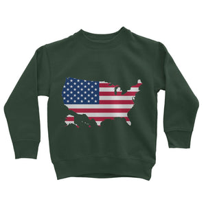 United States Continent Flag Kids Sweatshirt Apparel Flagdesignproducts.com