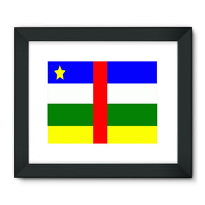 Flag Of Central African Framed Fine Art Print Wall Decor Flagdesignproducts.com