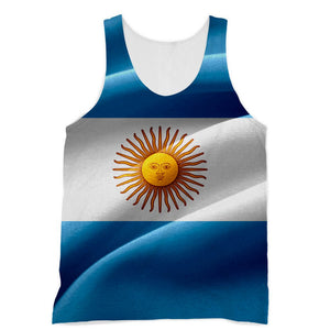 Waving Fabric Argentina Flag Sublimation Vest Apparel Flagdesignproducts.com