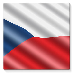 Czech Republic Waving Flag Stretched Eco-Canvas Wall Decor Flagdesignproducts.com
