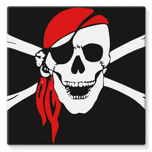 Bones And Skull Pirate Flag Stretched Eco-Canvas Wall Decor Flagdesignproducts.com