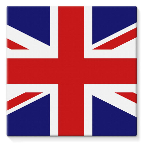Basic United Kingdom Flag Stretched Canvas Wall Decor Flagdesignproducts.com