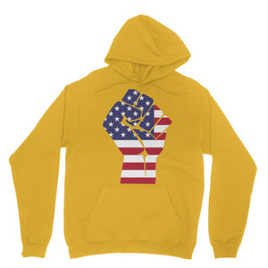 America First Hand Flag Heavy Blend Hooded Sweatshirt Apparel Flagdesignproducts.com
