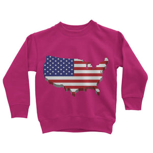 Usa Contient Flag Design Kids Sweatshirt Apparel Flagdesignproducts.com
