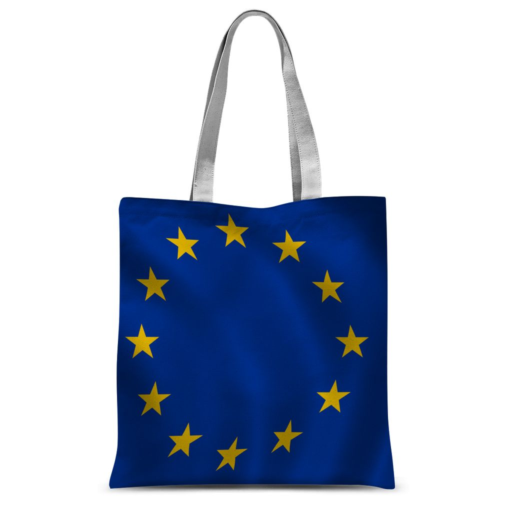 Waving Eu Flag Sublimation Tote Bag Accessories Flagdesignproducts.com
