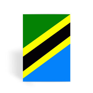 Flag Of Tanzania Greeting Card Prints Flagdesignproducts.com