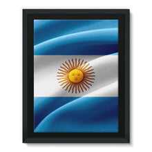 Waving Fabric Argentina Flag Framed Canvas Wall Decor Flagdesignproducts.com