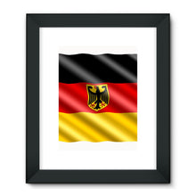 Waving Germany Flag Framed Fine Art Print Wall Decor Flagdesignproducts.com