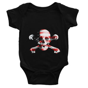 Usa Flag Pirate Baby Bodysuit Apparel Flagdesignproducts.com