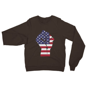 America First Hand Flag Heavy Blend Crew Neck Sweatshirt Apparel Flagdesignproducts.com