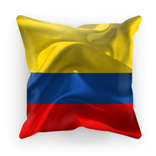 Waving Fabric Colombia Flag Cushion Homeware Flagdesignproducts.com