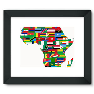 Africa Countries Flag Framed Fine Art Print Wall Decor Flagdesignproducts.com