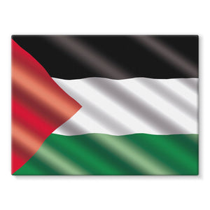 Waving Palestina Flag Stretched Canvas Wall Decor Flagdesignproducts.com