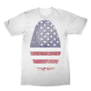 Usa Flag Finger Print Sublimation T-Shirt Apparel Flagdesignproducts.com