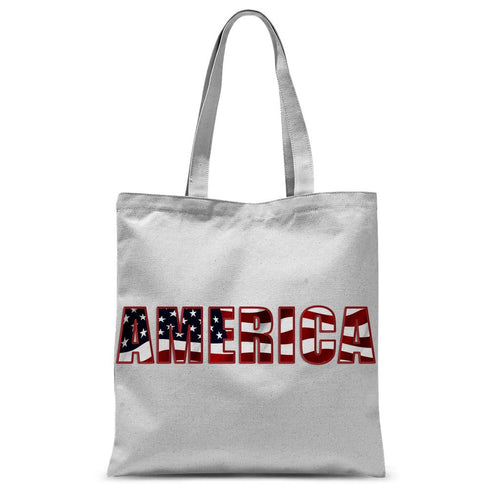 America Text With Flag Sublimation Tote Bag Accessories Flagdesignproducts.com