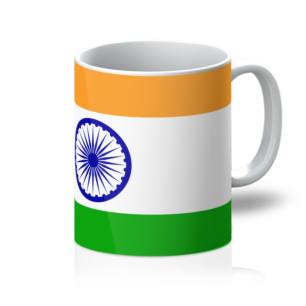 Basic India Flag Mug Homeware Flagdesignproducts.com