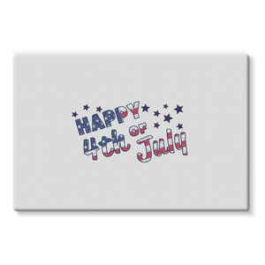 4Th July Usa Text Flag Stretched Eco-Canvas Wall Decor Flagdesignproducts.com