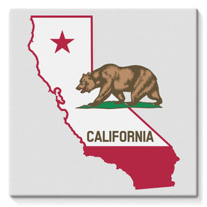 California State Flag Stretched Canvas Wall Decor Flagdesignproducts.com