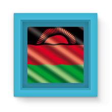 Waving Malawi Flag Magnet Frame Homeware Flagdesignproducts.com