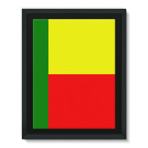 Flag Of Benin Framed Canvas Wall Decor Flagdesignproducts.com