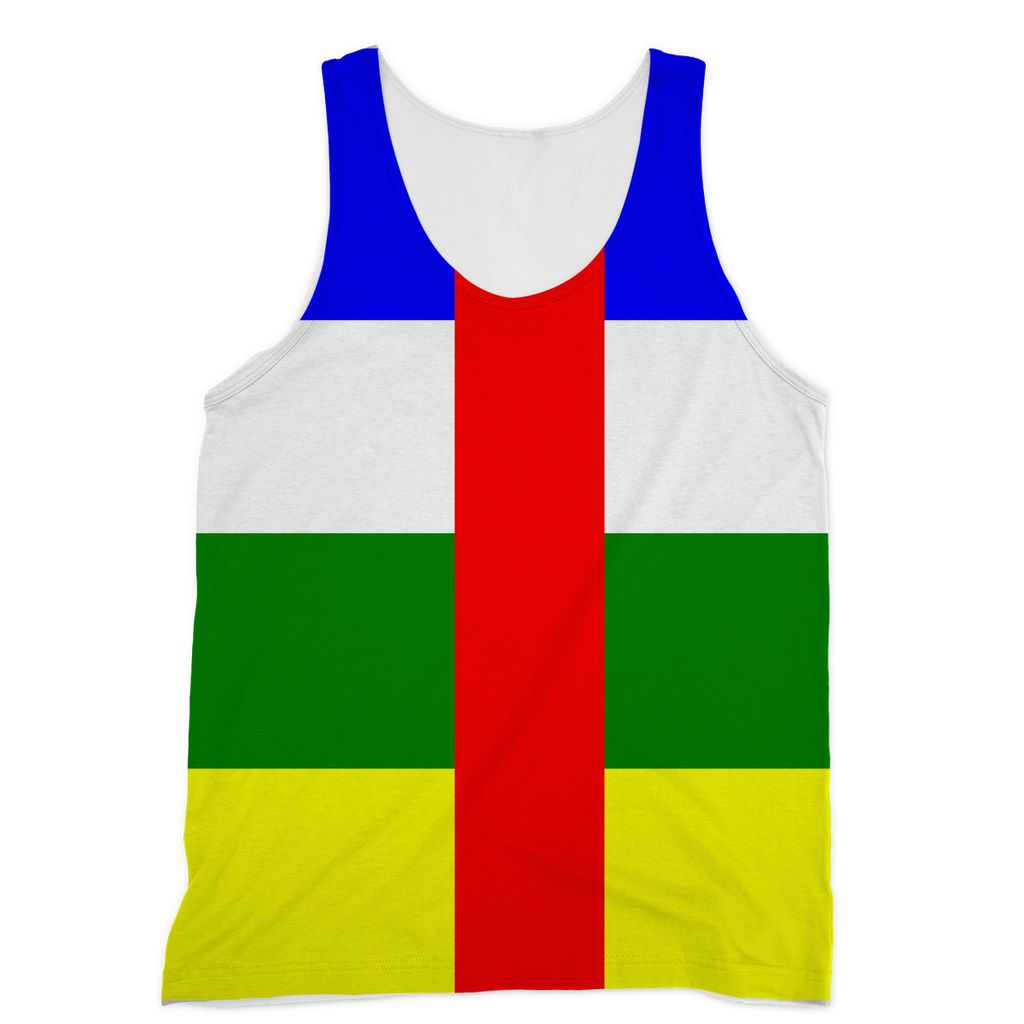 Flag Of Central African Sublimation Vest Apparel Flagdesignproducts.com