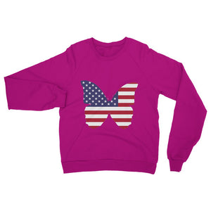 Usa Flag Butterfly Heavy Blend Crew Neck Sweatshirt Apparel Flagdesignproducts.com