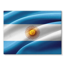 Waving Fabric Argentina Flag Stretched Canvas Wall Decor Flagdesignproducts.com
