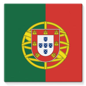 Basic Portugal Flag Stretched Canvas Wall Decor Flagdesignproducts.com