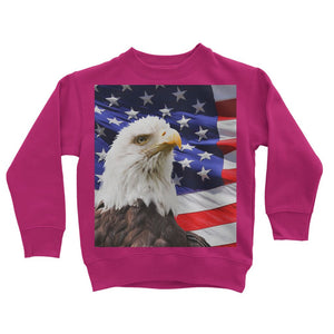 American Eagle And Usa Flag Kids Sweatshirt Apparel Flagdesignproducts.com