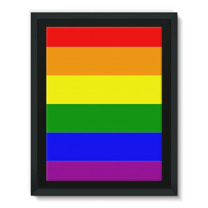 Colorful Rainbow Lgbt Flag Framed Eco-Canvas Wall Decor Flagdesignproducts.com
