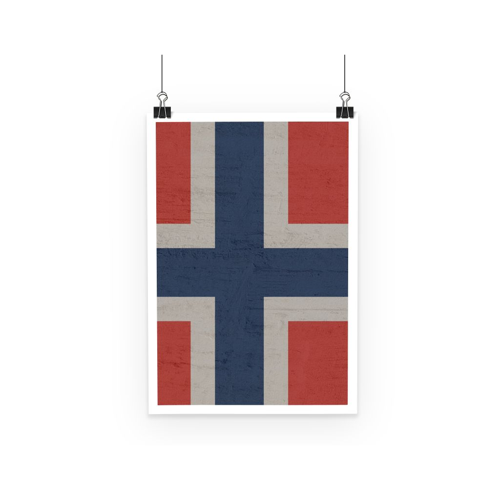 Norway Stone Wall Flag Poster Decor Flagdesignproducts.com