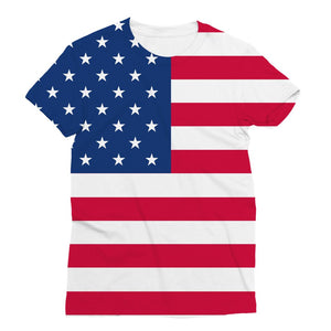 America Flag Sublimation T-Shirt Apparel Flagdesignproducts.com