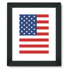 Basic America Flag Framed Fine Art Print Wall Decor Flagdesignproducts.com