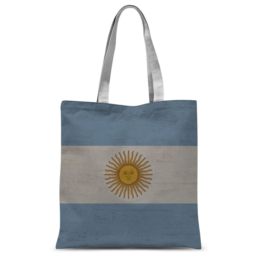 Argentina Stone Wall Flag Sublimation Tote Bag Accessories Flagdesignproducts.com