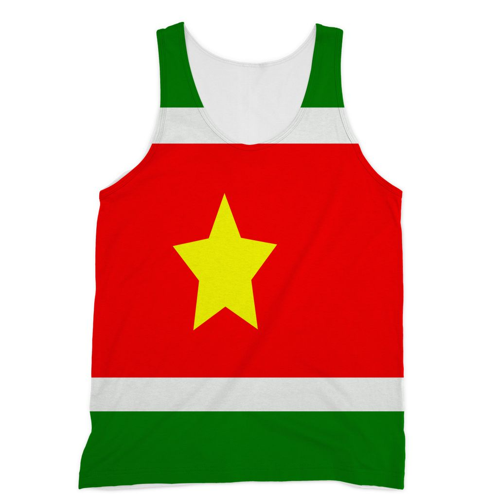 Flag Of Suriname Sublimation Vest Apparel Flagdesignproducts.com