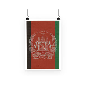Afganistan Stone Wall Flag Poster Wall Decor Flagdesignproducts.com