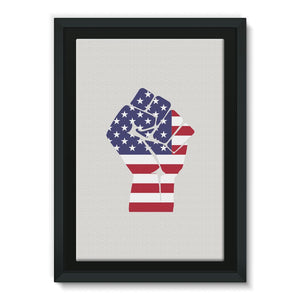 America First Hand Flag Framed Canvas Wall Decor Flagdesignproducts.com