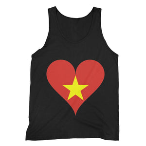 Vietnam Heart Flag Fine Jersey Tank Top Apparel Flagdesignproducts.com