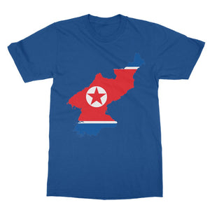 North Korea Continent Flag Softstyle Ringspun T-Shirt Apparel Flagdesignproducts.com
