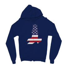 Usa Flag American Eagle Kids Zip Hoodie Apparel Flagdesignproducts.com