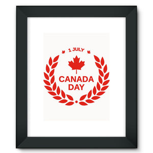 Canada Day Maple Leaf Flag Framed Fine Art Print Wall Decor Flagdesignproducts.com