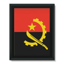 Angola Flag Framed Canvas Wall Decor Flagdesignproducts.com