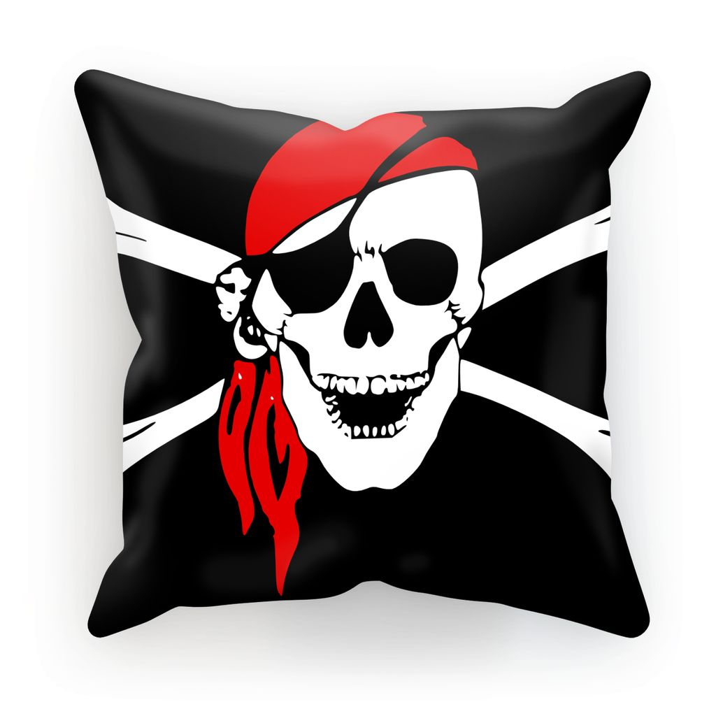 Bones And Skull Pirate Flag Cushion Homeware Flagdesignproducts.com