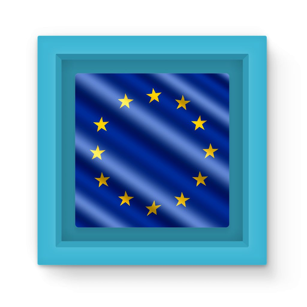 Waving Eu European Flag Magnet Frame Homeware Flagdesignproducts.com