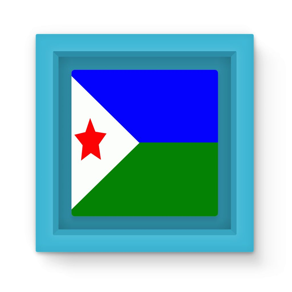 Flag Of Djibouti Magnet Frame Homeware Flagdesignproducts.com