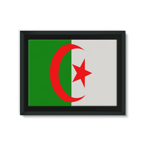 Flag Of Algeria Framed Canvas Wall Decor Flagdesignproducts.com