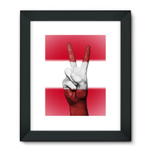 Austria Flag And Hand Framed Fine Art Print Wall Decor Flagdesignproducts.com